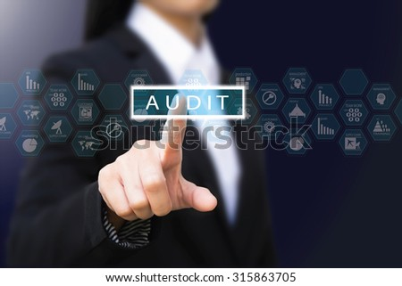 businesswoman ,audit concept - stock photo