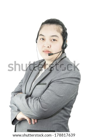 Businesswoman ; call center