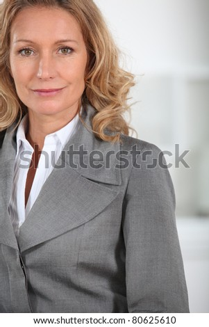 businesswoman close-up - stock photo