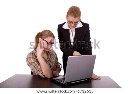 Businesswoman consulting. - stock photo