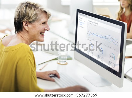 Businesswoman Contemporary Cooperation Creative Concept - stock photo