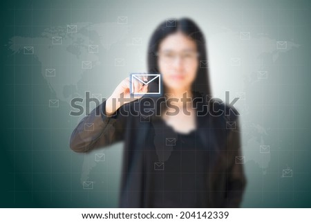 businesswoman delivery - stock photo