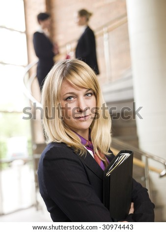 Businesswoman facing the camera