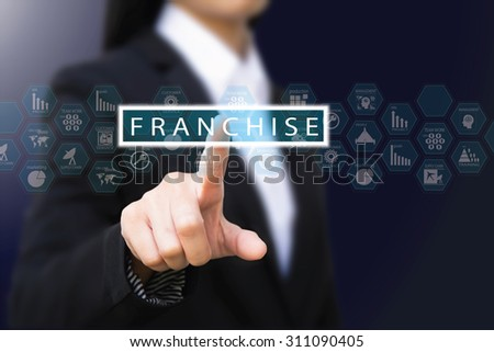businesswoman , franchise concept