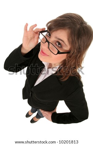 Businesswoman in spectacles - stock photo