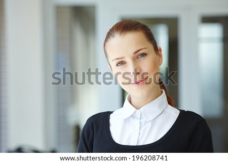 businesswoman in the office - stock photo