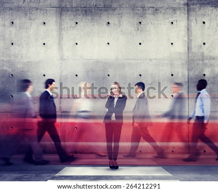 Businesswoman Individuality Role Model Modern Organization Concepts - stock photo