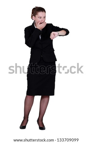 Businesswoman is kate - stock photo
