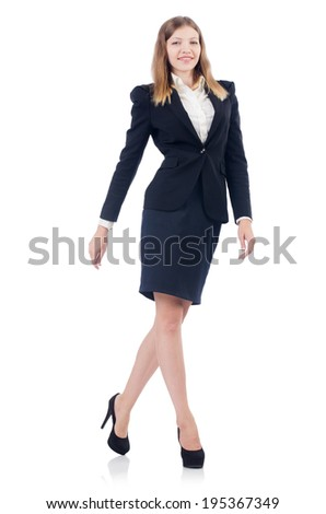 Businesswoman isolated on the white - stock photo