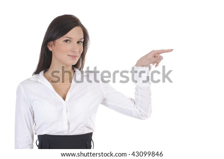 Businesswoman isolated over white background