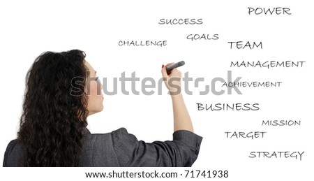 Businesswoman making a presentation - stock photo
