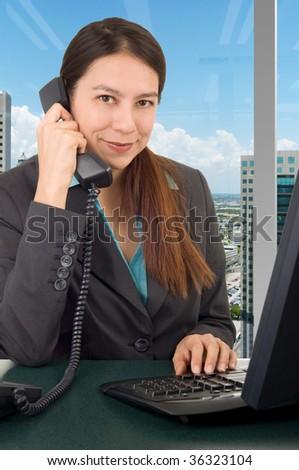 Businesswoman on the phone - stock photo