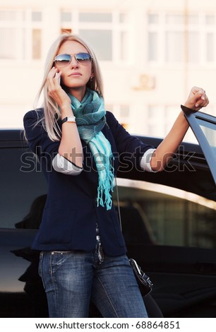 Businesswoman on the phone. - stock photo