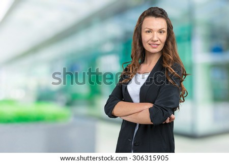 Businesswoman outside the office