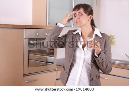 businesswoman pain - stock photo