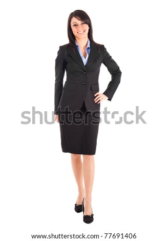Businesswoman portrait full length - stock photo