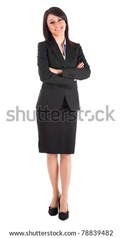 Businesswoman portrait full length with arms folded