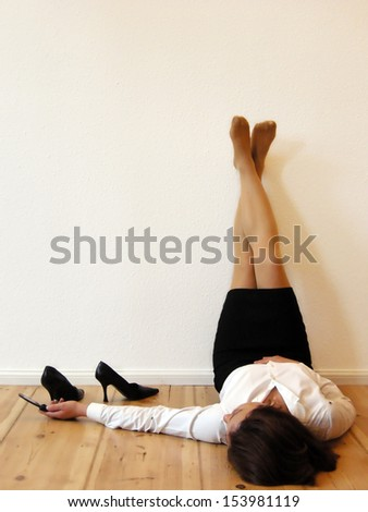 Businesswoman relaxed - stock photo
