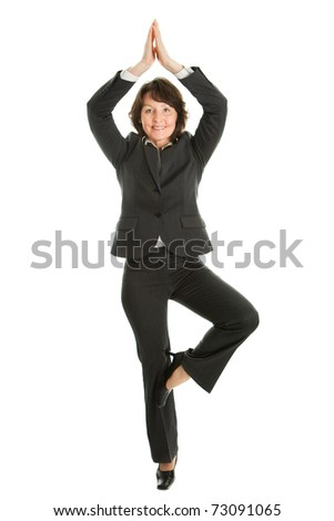 Businesswoman relaxing - stock photo