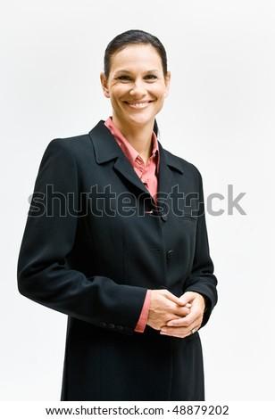 Businesswoman smiling - stock photo