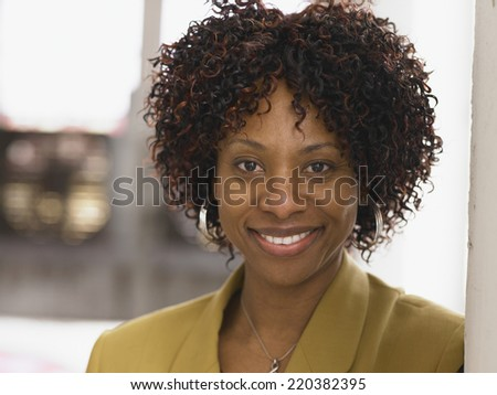 Businesswoman smiling for the camera