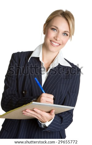 Businesswoman Taking Notes - stock photo