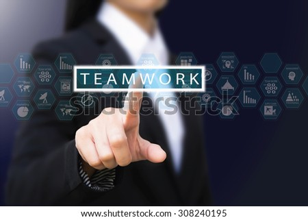 businesswoman , Teamwork concept - stock photo
