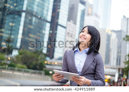Businesswoman thinking the idea