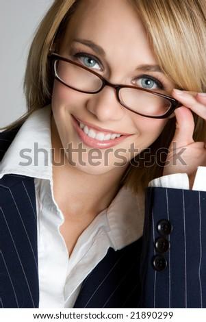 Businesswoman Wearing Glasses - stock photo