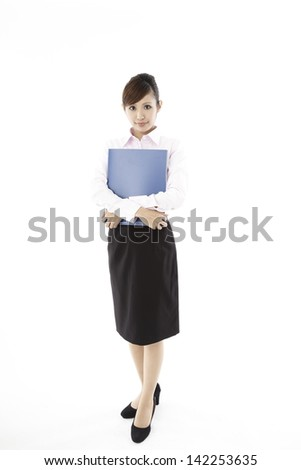 Businesswoman, white back