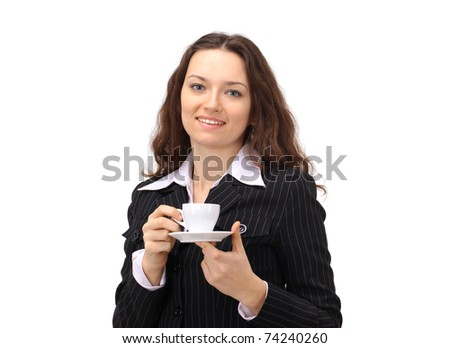 Businesswoman with Coffee Cup!