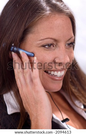 Businesswoman with Headset