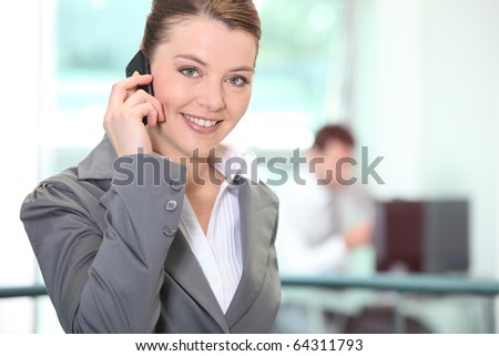 Businesswoman with mobile phone