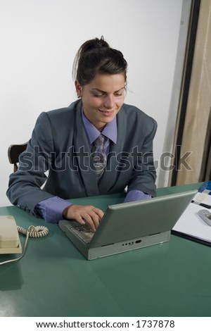 Businesswoman work on the laptop at the office