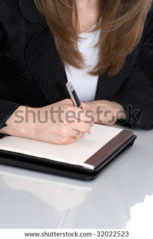 Businesswoman writing 2