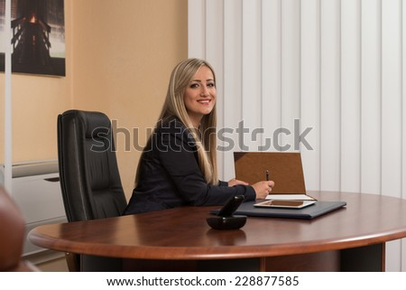 Businesswoman Writing A Letter - Notes Or Correspondence Or Signing A Document Or Agreement