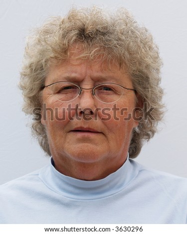 Businesswomans portrait for a passport or identity tag - stock photo