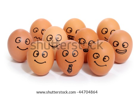 bussines eggs - stock photo