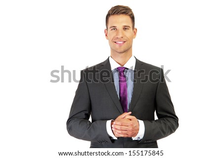 Bussines man over white background - stock photo