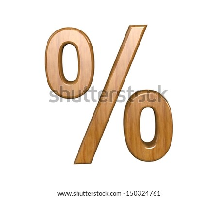 Bussines symbols. 3D wood percentage
