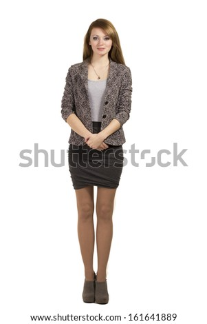 Bussines woman isolated on white background