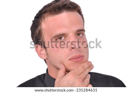 Bussinesman is thinking - stock photo