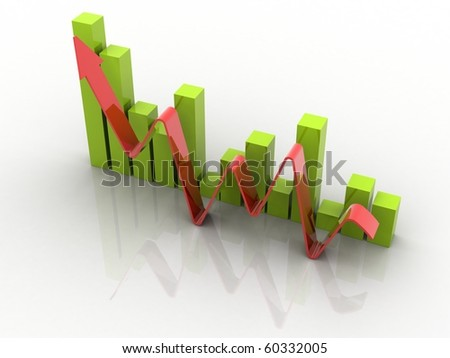 Bussiness Graph isolated on white background