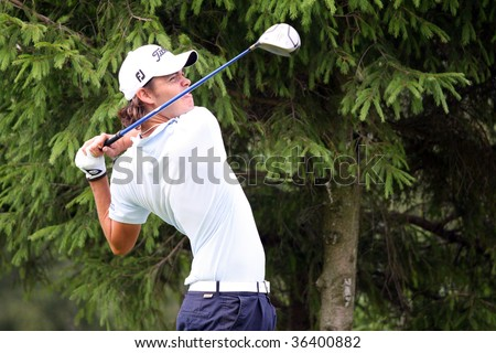 BUSSY-GUERMANTES, FRANCE  AUGUST 27: Olivier Serres (FRA) at the Prevens Trophee, an Alps and Allianz Golf Tour event, August 27, 2009 in Bussy-Guermantes Golf Club, France,