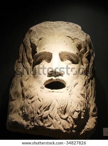 Bust of Caesar in Istanbul Archeology Museum. - stock photo