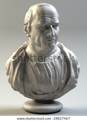 Bust of Cicero (3D render) - stock photo