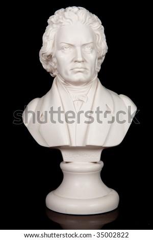 Bust of Ludwig van Beethoven - stock photo