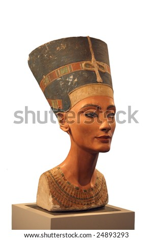 Bust of Nefertiti in a museum of Berlin - stock photo