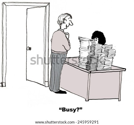 Busy? - stock photo