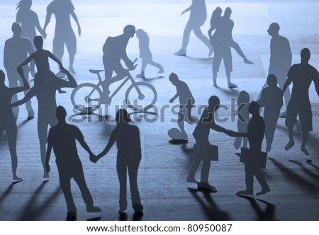 Busy City Life - stock photo